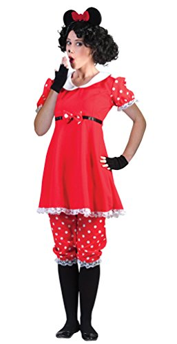 Karneval-Klamotten Minnie Mouse Kostüm Damen Minnie Maus-Kostüm Karneval Damen-Kostüm Größe 36/38