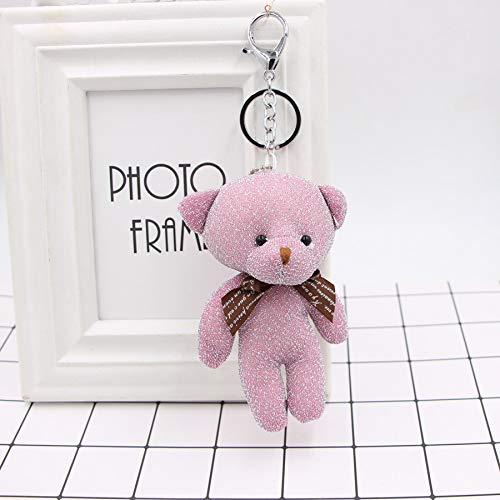 Honta giocattolo per bambini giocattolo di san valentino simpatico orsetto pendente portachiavi borsa a mano auto fascino portachiavi accessori regalo (colore : pink, dimensione : 13x5cm)