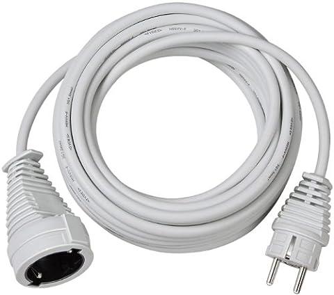 Brennenstuhl Qualitäts-Kunststoff-Verlängerungskabel 5m weiß, 1168440