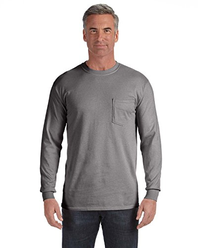 Treask 6.1 Oz. Long-Sleeve Pocket T-Shirt (C4410) 4Grey