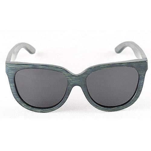 Herren Outdoor Freizeit Persönlichkeit Retro Bambus Herren Sonnenbrille Handmade Cat Eyes Wooden Polarized Sonnenbrille UV-Schutz Sonnenbrille Driving Sonnenbrille Strand Sonnenbrille (Farbe