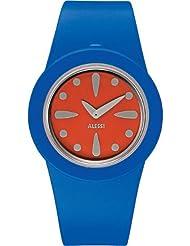 Alessi AL1015 - Reloj analógico automático unisex, correa de plástico color azul