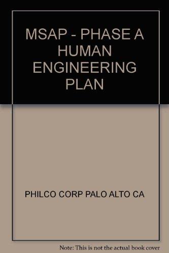 MSAP - PHASE A HUMAN ENGINEERING PLAN