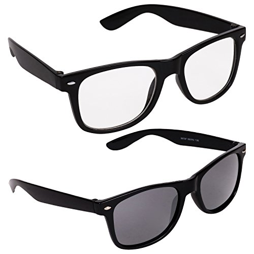 Aligatorr Combo Pack of Stylish White and Black Wayfarer Sunglass  available at amazon for Rs.140