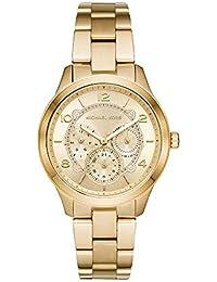 80f116fd4df7 Michael Kors Runway Analog Gold Dial Women s Watch - MK6588