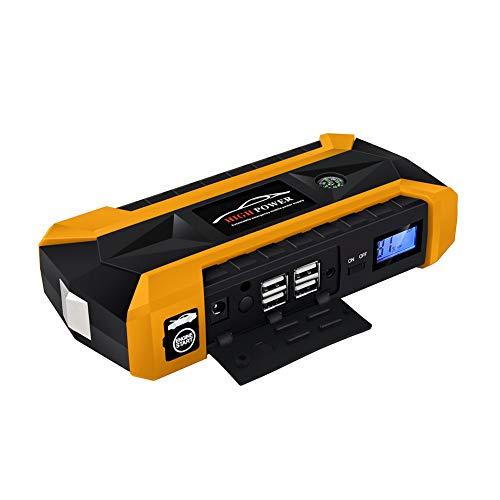Voiture de démarrage d'urgence, 89800mAh 4 USB portable voiture Jump Starter Pack Booster chargeur batterie Power Bank
