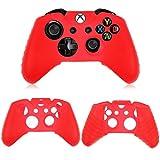 Xbox One Controller Silikon Hülle, Gusspower Gute Qualität Soft Abdeckungs Haut Kasten Schutzhülle Skin Cover Case für Xbox One/Xbox One S (Rot)