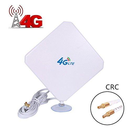 4G LTE Antenne CRC9 Stecker Dual Mimo Outdoor Signal Booster Verstärker Epmfänger 35dbi hoch verstärkend weitreichendes Netzwerk für Wifi Router Mobiles Breitband (CRC9)