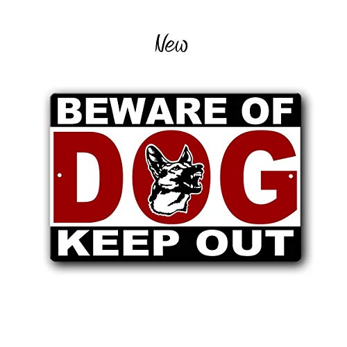C-US-lmf379581 Beware of Dog Sign Funny Metal Signs Dog Warning Sign Dog Sign Funny Dog Sign Keep Out Warning Sign Guard Dog Metal Sign