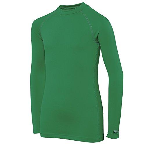 RH001sportivo uomo maniche lunghe canottiera underwear-Maglietta Sport da donna Verde