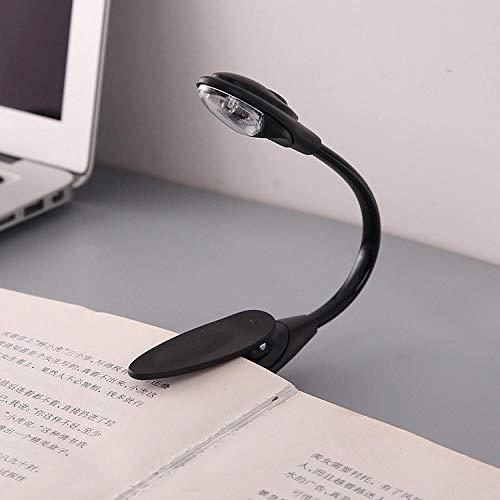 Lampe de chevet à clip avec lampe de lecture à poser mini lit de petite taille lampe de table lampe oculaire à LED noir