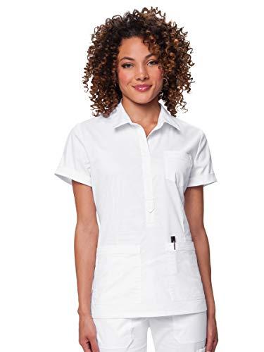 KOI Stretch 243 Women's Felicia Scrub Top White XL - Scrub-top White
