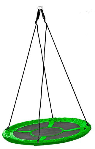 Izzy Nestschaukel 110 cm, grün - Garten-Schaukel bis 150 kg belastbar, TÜV Rheinland GS
