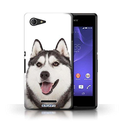 Kobalt® Imprimé Etui / Coque pour Sony Xperia E3 / Bull Terrier conception / Série Chiens Husky/Esquimau