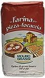 Molino Grassi Italian Flour for Pizzas and Focaccia, 1 kg, Pack of 10