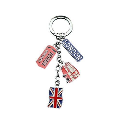 LUOEM UK Flagge Metall Schlüsselanhänger Souvenir Schlüsselanhänger Union Jack Schlüsselanhänger Auto Schlüsselanhänger Tasche Charms -