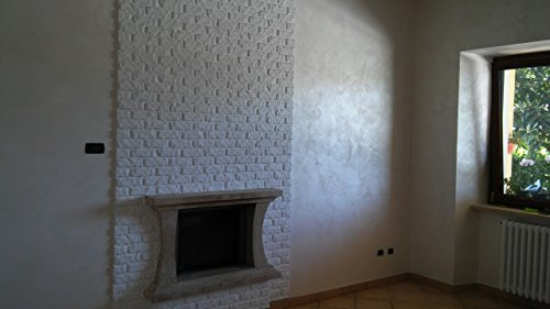 Panel de poliestireno ladrillo blanco resina Coreno 110cm x 56cm