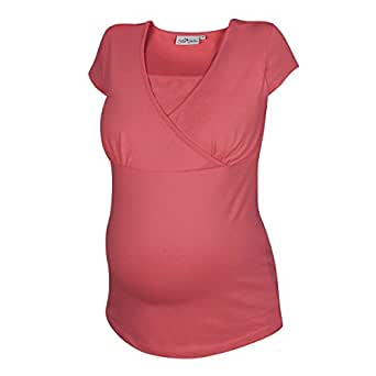 2HEARTS Still-T-Shirt Umstandsshirt Schwangerschafts-Shirt, Größe 36, coralle