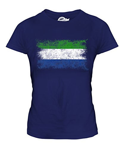 Candymix - Sierra Leone Distressed Flag - Ladies Fitted T Shirt Top T-Shirt