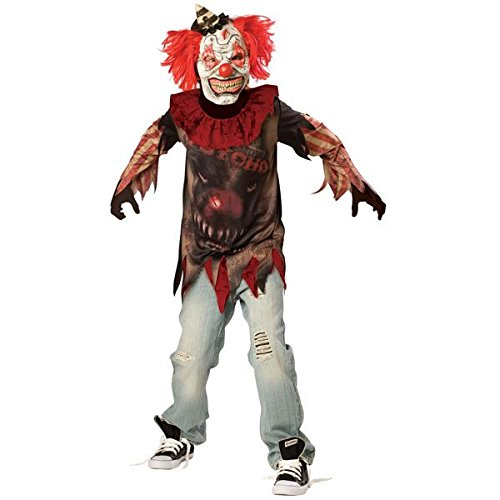 (Psycho-Killer Clown Sideshow-Halloween-Kostüm (12-14 Jahre))