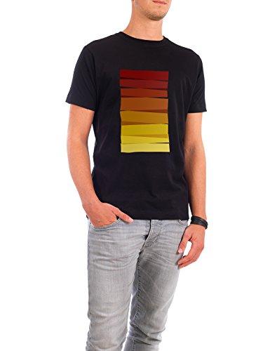 """Design T-Shirt Männer Continental Cotton """"Colorful Stripes Painting II"""" - stylisches Shirt Abstrakt Geometrie Natur Fashion von Paper Pixel Print Schwarz"""