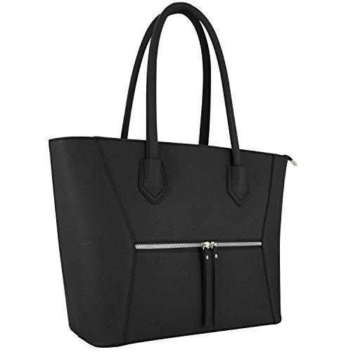 Vanessa & Melissa (Farbauswahl) Damen Handtasche PU-Leder TÜV geprüft groß Schultertasche Shopping Bag Shopper A4 Arbeit sale 2018 Tasche Freizeit/Schule/Büro