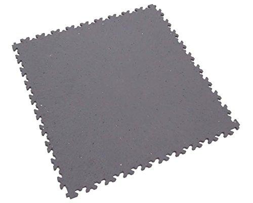 Fortelock® Vinylfliese 2020 (Leder) ECO - Hohe Belastbarkeit (Industrie-Anwendung) (Grau)