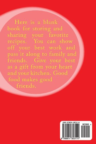 Recipes From  My Kitchen: A Blank Cookbook
