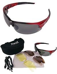 'Edge' Rot Polarisierte Golfbrille Mit Wechselgläser x 3. Für Herren und Damen