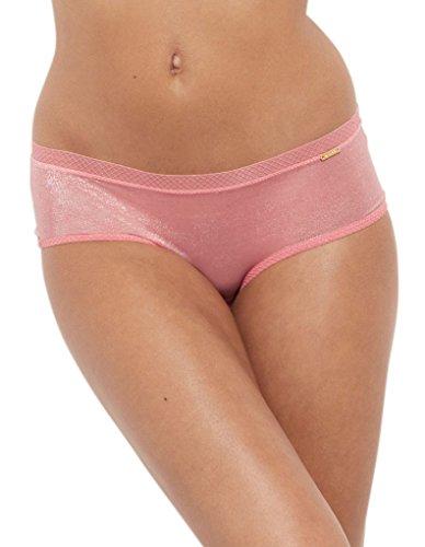 Gossard 6274 Women's Glossies Salmon Rose Pink Knicker Shorties Boyshort XLarge (Rosen Boyshort)