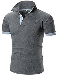 YCHENG Mode Polo Homme Manche Courte Casual Poloshirt T-shirt M-XXL