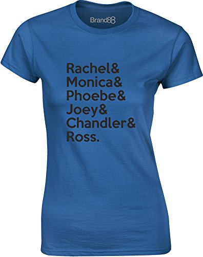 Brand88 - Friends Cast, Mesdames T-shirt imprimé Bleu/Noir