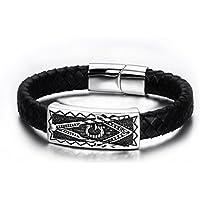 YC Top intrecciato a mano in religioso Totem in pelle