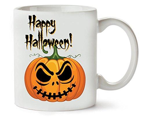 Happy Halloween Angry Pumpkin Eyes Klassische Teetasse Kaffeetasse