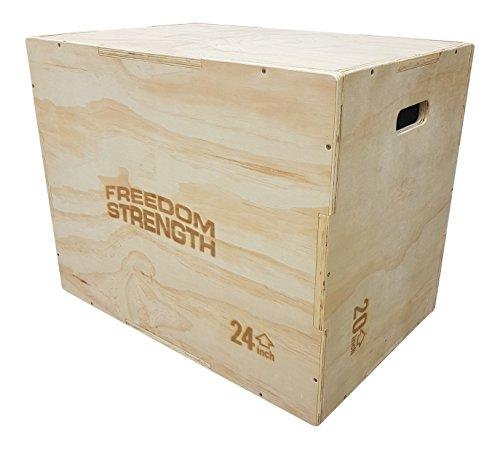 freedomstrength® 3en 1de madera Plyo salto caja para Crossfit, MMA, velocidad, de alimentación