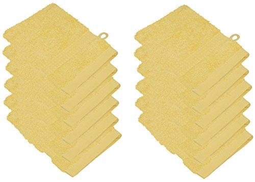 starlabels Serviettes Disponible en 15 couleurs et 5 dimensions doux saugstark 500 g/m², 100% coton, Öko Tex, Coton, jaune, 15 cm x 21 cm