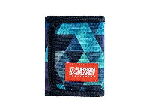 Urban Planet Streetwear Geldbeutel aus Stoff bunt mit sichtfenster. (hyper geometrical)