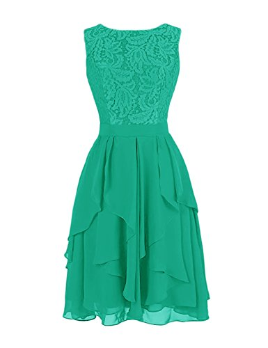 e034fb6d1c0 Dresstells Short Chiffon Crew Neck Evening Party Formal Prom Dress Lace  Flowers Maxi Dress Green Size 18 - Buy Online in Oman.