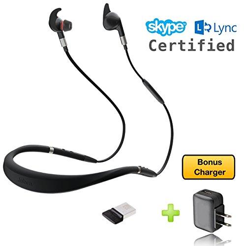 Jabra Evolve 75e Bluetooth-Headset USB Bundle - VoIP-Kommunikation - Windows PC, MAC, Smartphone, Streaming-Musik, Avaya, Skype, Cisco, Bria - inkl. Bonus-Ladegerät MS Bundle