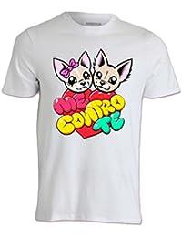T-Shirt Maglietta Maglia Me Contro Te Cuore 100% Poliestere Lavabile in Lavatrice