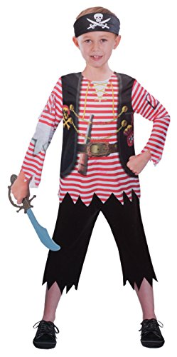 (Brandsseller Jungen Kostüm Verkleidung Fasching Karneval Party - Pirat, M)