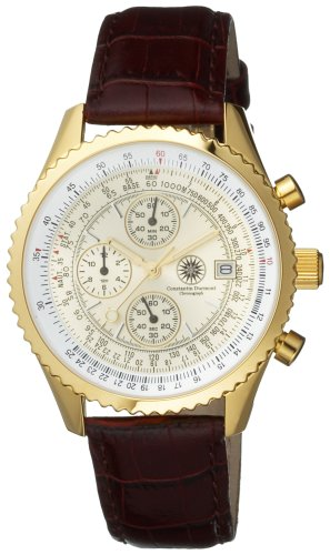 Constantin Durmont Gents Watch Chronograph Quartz NavGD Navigator Gold