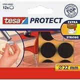 tesa 20 x Filzgleiter Protect Durchmesser 22mm rund braun