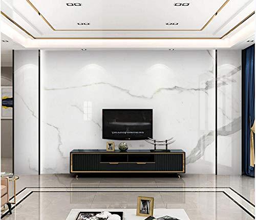 Schlanke, minimalistische Wohnwand aus weißem Marmor mit Jazzmuster, Seitenwandpapier, 350 cm * 245 cm