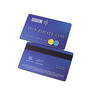 NEVEQ RFID Blocker Karte mit Störsender für Kreditkarten, Bankkarten, Ausweise, Reisepass. Schutzkarte NFC Signal…