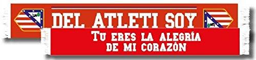 Bufanda doble Atlético de Madrid – Del Atleti soy – Tu eres la alegría de mi corazón