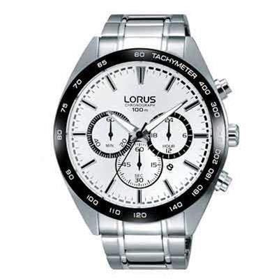 Lorus Orologio Cronografo Quarzo Uomo con Cinturino in Acciaio Inox RT301GX9