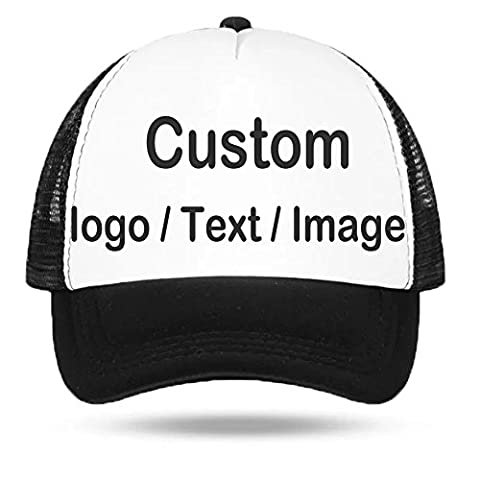 Personalised Hat, Custom Your Logo Text Picture Print Half Mesh