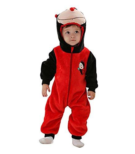 Cartoon Tier Unisex Baby Kapuzen Schlaf Kostüm für Halloween Party (Marienkäfer Halloween-kostüm Für Baby)
