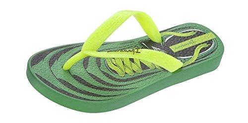 Ipanema Brasil Laces Garçons été Flip Flops Green/Yellow